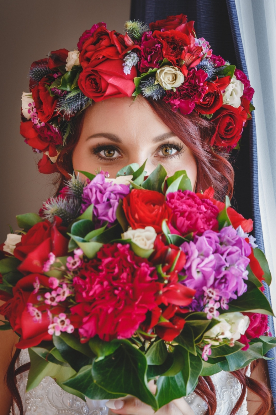 flower crown, beautiful eyes, Justyna
