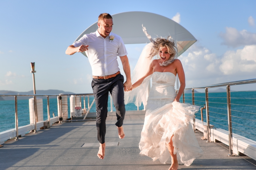 Coral Sea Resort Wedding Photography, Airlie Beach, Whitsundays
