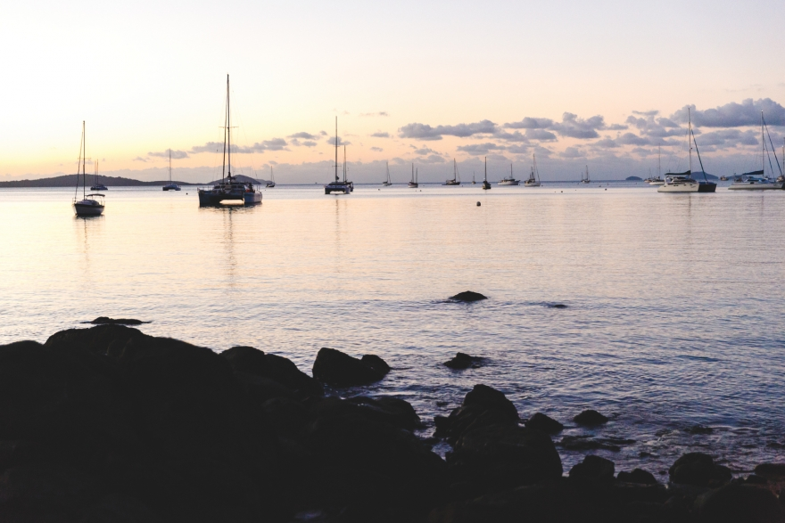 the sunset, Airlie Beach, whitsundays