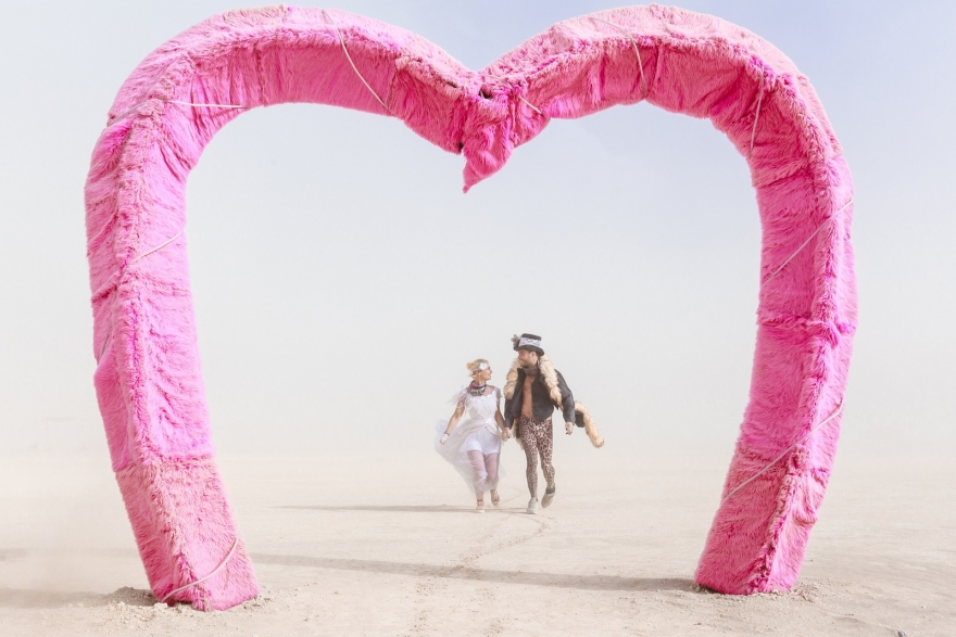 Burning Man wedding photography