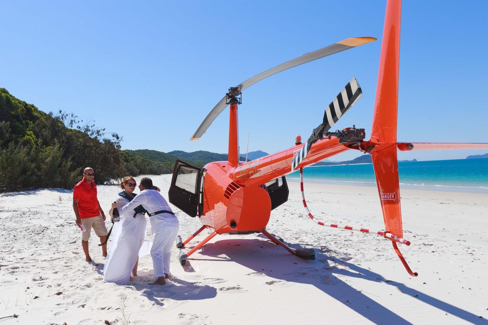 Zoe & Majid  Whitehaven beach, helicopter, elopement wedding
